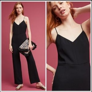 Anthropologie The Essential Strappy Black Jumpsuit